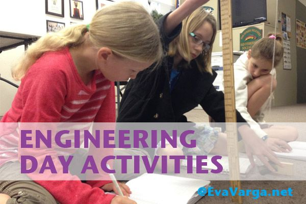 This year marks the 15th anniversary of Introduce A Girl To Engineering Day which aims to connect girls to careers in engineering. // Engineering Day Activities @EvaVarga.net