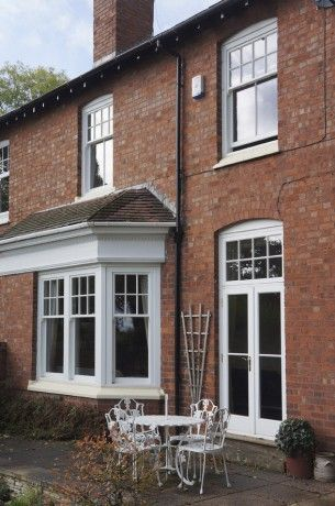 Classic French doors and sash windows