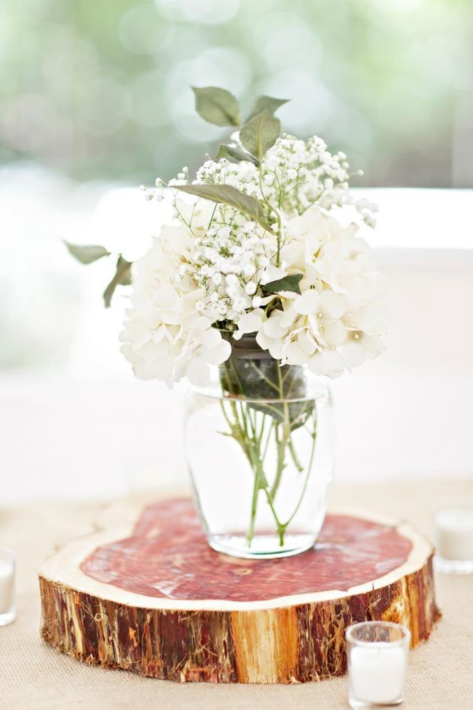 Diy wedding centerpieces with baby s breath and hydrangeas