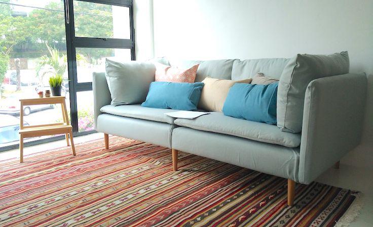 ikea soderhamn sofa review vardagsrum och bl. Black Bedroom Furniture Sets. Home Design Ideas
