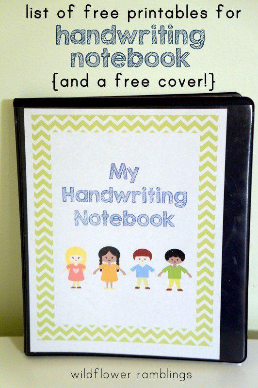 Preschool Handwriting Notebook {free printable!}