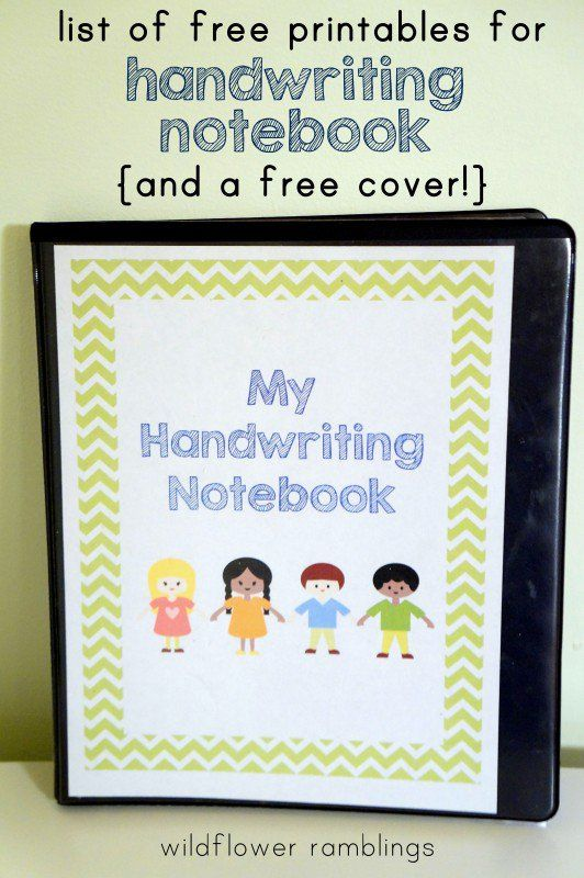 Preschool Handwriting Notebook {free printable | Posts ...