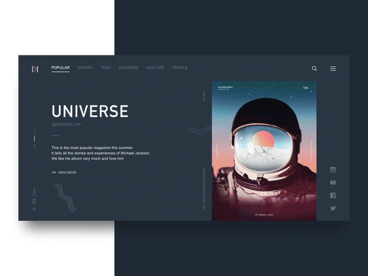 Monthly magazine web Design GIF by JEE_Lion
