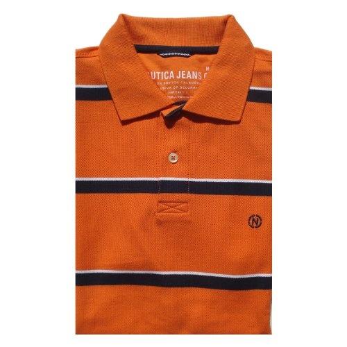 Nautica jeans men s classic short sleeve stripe polo shirt 19 95