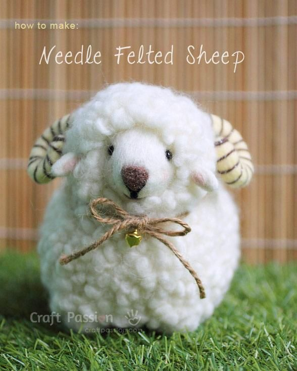 DIY Children's : DIY Needle Felted Sheep