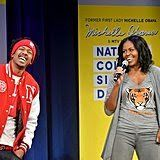May 5: Michelle and Nick Cannon Join Forces For MTV'S College Signing Day in NYC