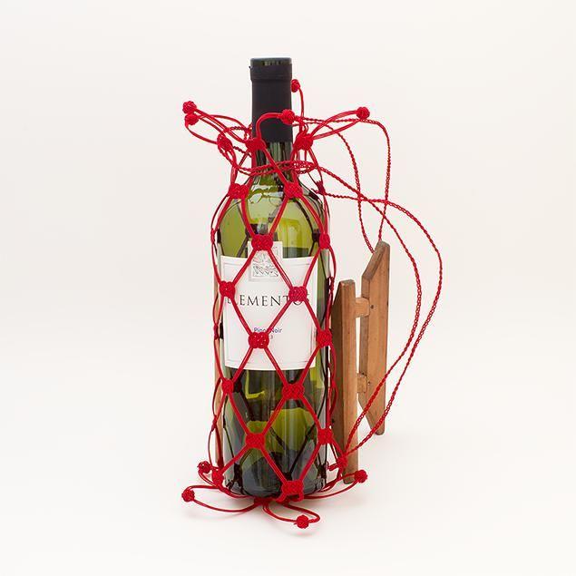 水引ワインバッグ(赤)│和工房 包結 オンラインショップ