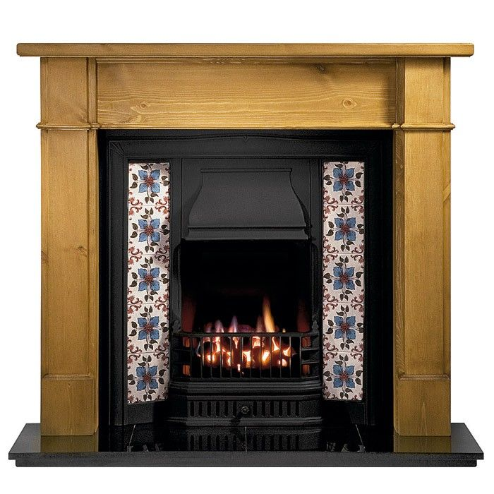 Gallery Worcester Pine Fireplace with Sovereign Cast Iron Tiled Insert - Wooden Fireplaces - Fireplace Packages - Fireplaces Are Us £640