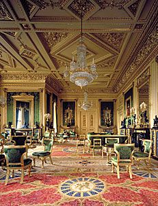 Windsor Castle - the Green Drawing Room
