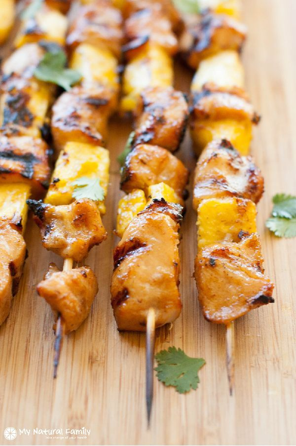 Teriyaki Chicken Skewers Recipe (Paleo, Clean Eating, Gluten Free, Dairy Free)