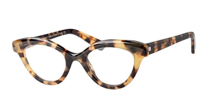 GLARE ETTA a Retro Design Eyewear in Tokio Havana colour. Completely handmade in Italy