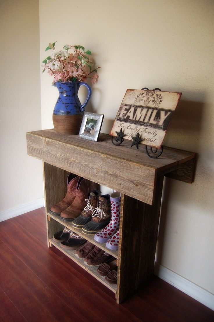 Console Table. Wood Entry Way or Wall Table 36 x 12 x 30 Wall Table Runner. Wood Furniture. Rustic Wood Table. $250.00, via Etsy.