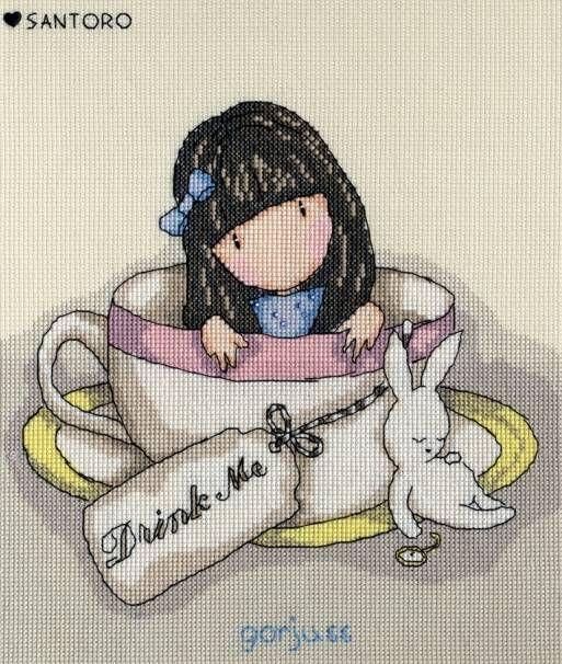 Gorjuss Sweet Tea Cross Stitch Kit £25.00 | Past Impressions | Bothy Threads