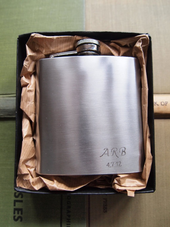 Customized Wedding Hip Flask  Initials and Dates by Gx2homegrown, £20.00