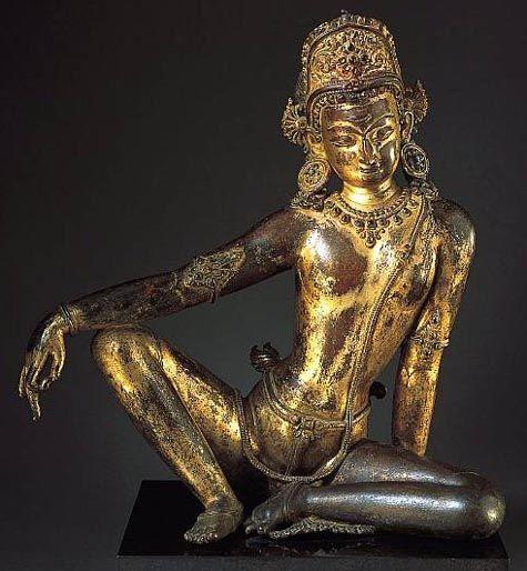 Indra gilt-bronze 1200-1300 A.D. - NepalSri Indra, Spirituality Figures, Indra Gilt Bronze