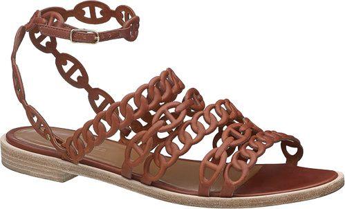 Shopping Mode Les 30 sandales de l'été 2015 : sandales Kalliste avec maillons motif chaines d'ancre, Hermès, style gladiator http://www.vogue.fr/mode/shopping/diaporama/les-30-sandales-mode-de-lete-2015/21052/carrousel