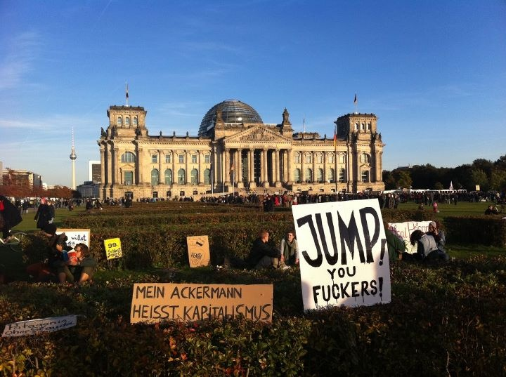 Occupy Wall Street! // first weekend in Berlin (October 2011)