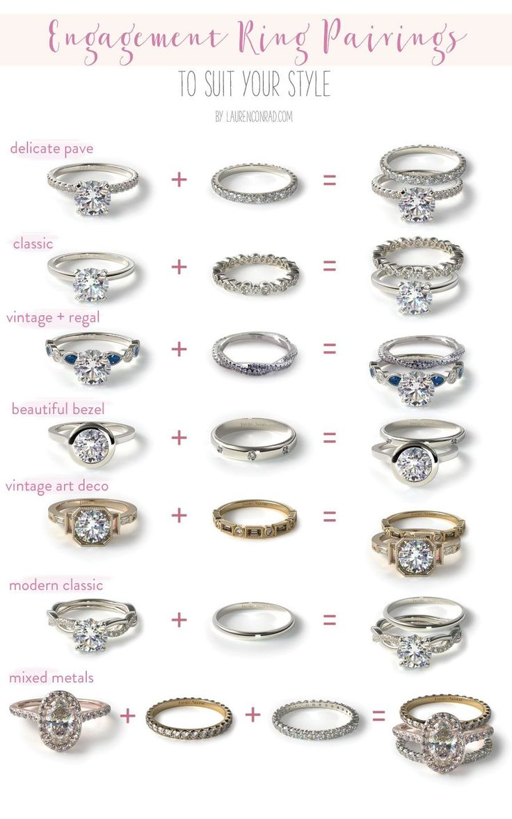 Wedding Bells: Our Favorite Engagement Ring + Wedding Band Pairings