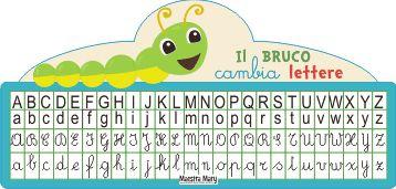 Il bruco cambia lettere che facilita l'apprendimento del corsivo.