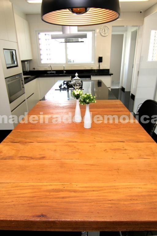 Tampo de Peroba Rosa de Demolição - Cozinha Moderna - Madeira de Demolição: www.madeiradedemolicao.com