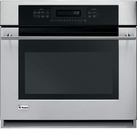 Monogram ZET938SMSS 30 Inch Single Electric Wall Oven with 4.4 cu. ft. Reverse-Air/European Convection Oven, Meat Thermometer, Glass Touch Controls and ADA Compliant: Stainless Steel  $2399?