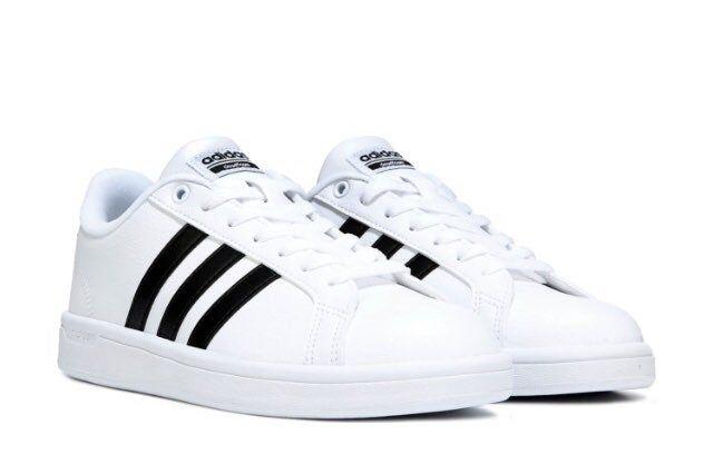 White Black Three Stripe Adidas Sneakers AdidasNeo Never Worn ...