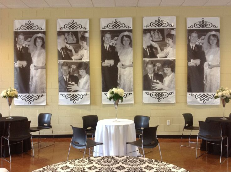 50th anniversary party photo banners wedding 50th for 50th anniversary decoration