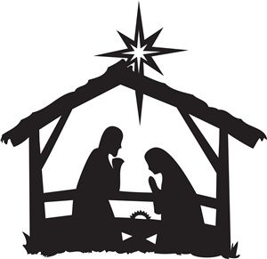I LOVE this Nativity silhouette! I want to make it into a painted yard cut-out. We'll see how that goes.