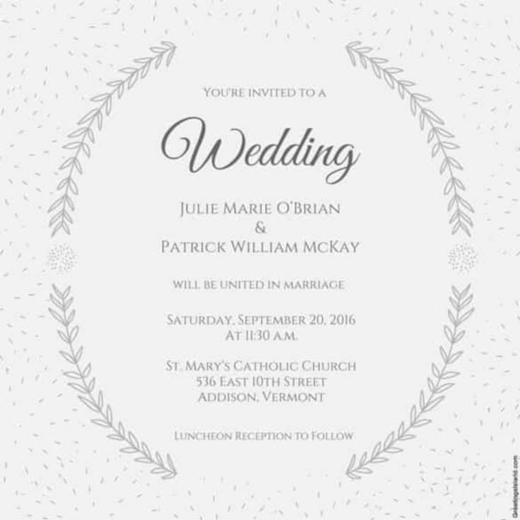 The 25 best Wedding invitation templates ideas on Pinterest