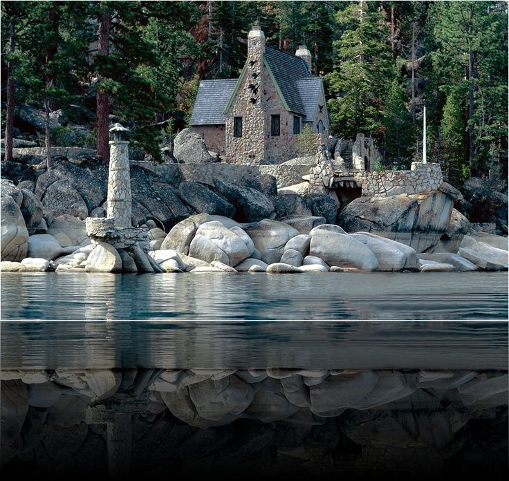 Vikingsholm Castle in Emerald Bay, Lake Tahoe. You have to hike down to it -- there are no roads!