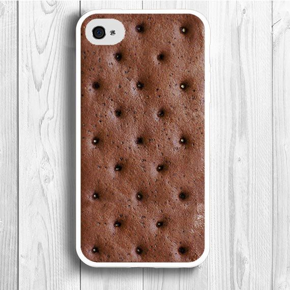 iPhone 4 Case ice cream sandwich iPhone 4S Case food snack iPhone 5 Back Cover --000010