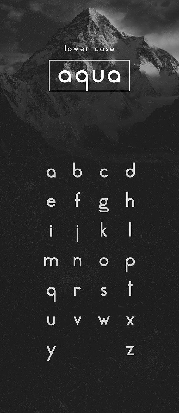 Free Font Of The Day : Aqua Grotesque