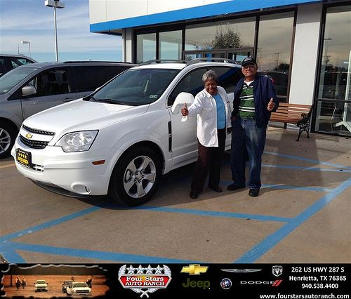 Thank you to Barbara And Nathaniel Reed on your new 2013 #Chevrolet #Captiva Sport Fleet from Scott Sanders and everyone at Four Stars Auto Ranch! #NewCar