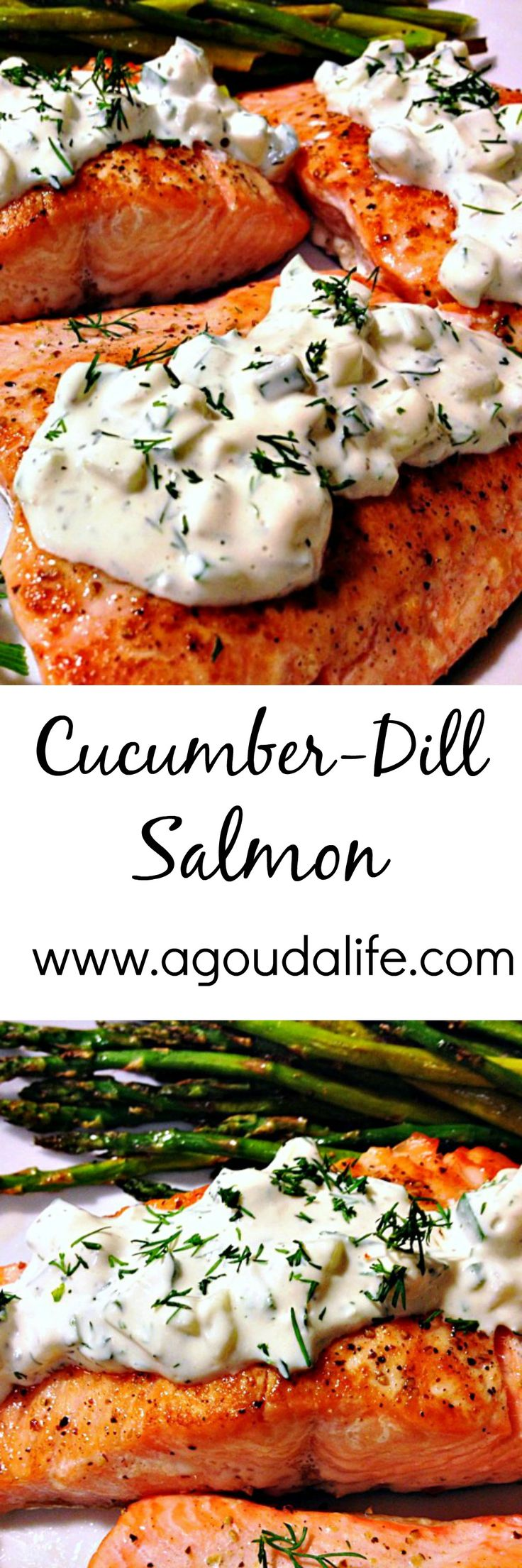 Cucumber Dill Salmon - stove to table in UNDER 30 minutes ~ a light, healthy FRESH meal.