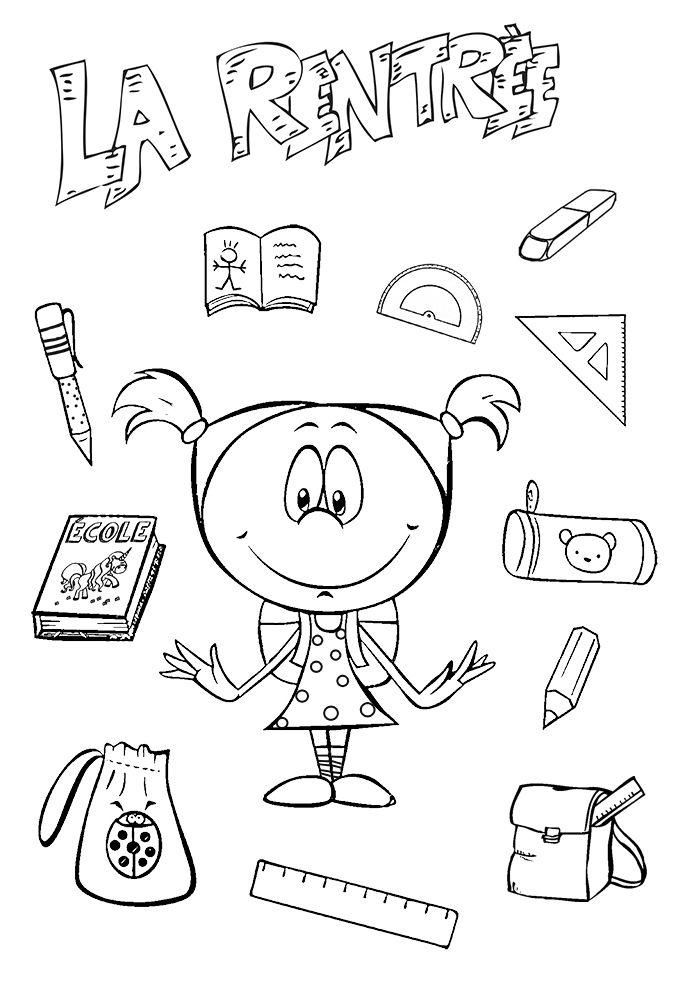 coloriage une vieille ecole | Teachings | Pinterest ...