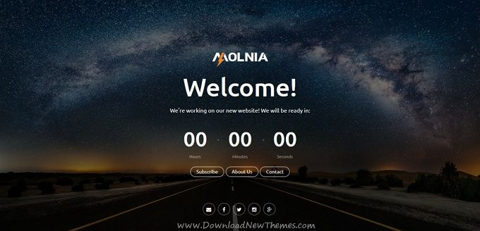 Molnia is a wonderful HTML #bootstrap template for coming soon / under construction website with #countdown timer, #subscription, mail form, gallery, social icons and beautiful effects download now➩ https://themeforest.net/item/molnia-coming-soon-html-template/19852347?ref=Datasata