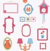 Lief Girls Frames    Wallpaper 52cm x 10m per roll    Paste the wall.  Please make sure you follow manufactures instructions when hanging wallpaper.