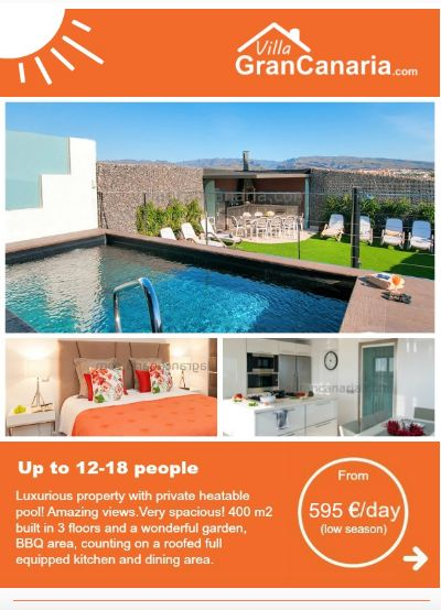 Newsletter de villas turísticas. Turismo, alojamiento, hotel, casas vacacionales,.