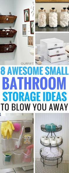 8 DIY Small Bathroom Storage Ideas Worth Your Time - The perfect storage Ideas On A Budget that will do the job just right and make you wonder why you didn't think of that yet. Includes great DIY Projects that are easy and cheap!