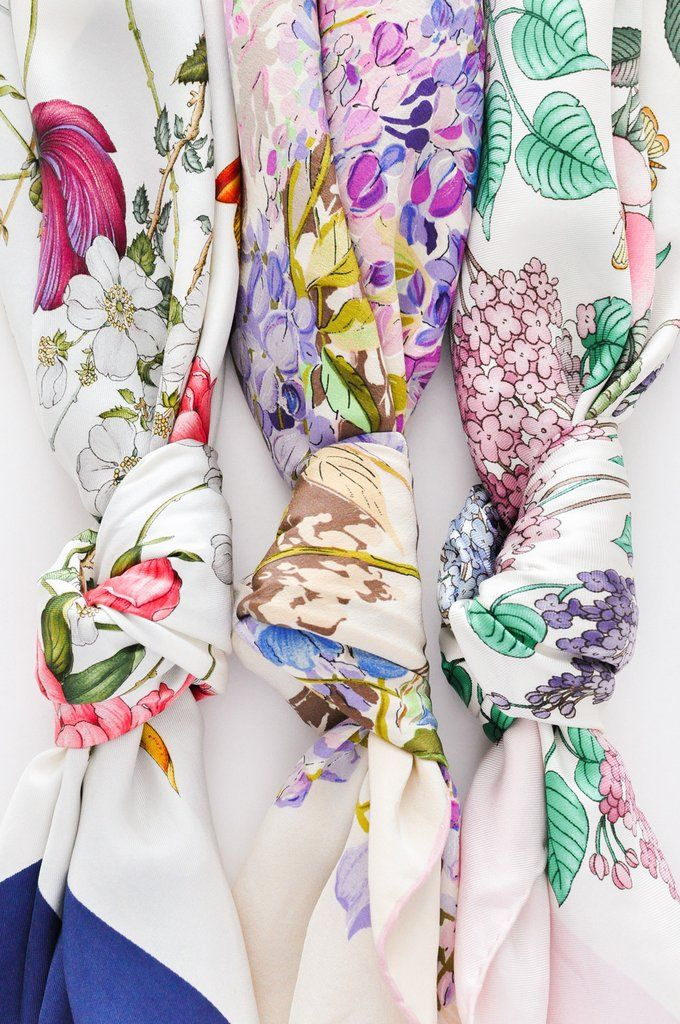 3679172630d Gucci Floral Square Scarf in 2019 | Silk Scarf Styling | Gucci ...