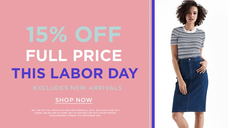 Long Tall Sally USA and Canada: Labor Day Sale