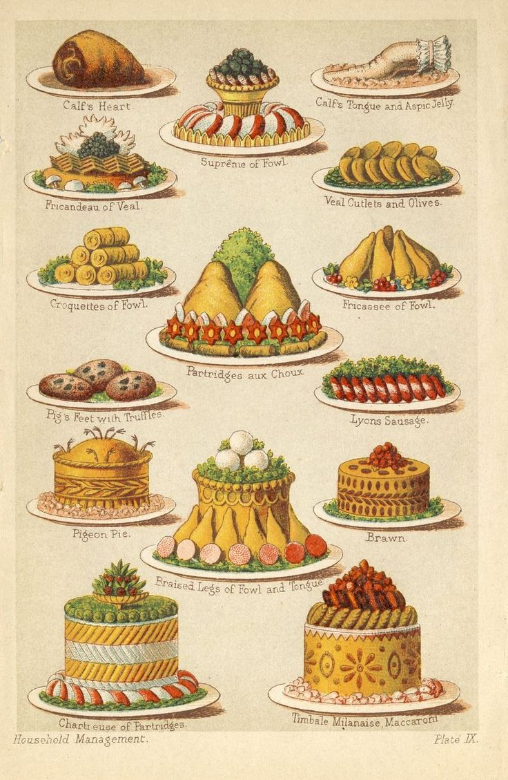 'Mrs Beeton's Book of Household Management' (1861) is one of the most famous cookery books.A guide to running a Victorian household,over 900 pages contained recipes,such that another popular name for the volume is Mrs Beeton's Cookbook.She highlights the importance of both animal welfare & the use of local & seasonal produce,long before such concerns became mainstream.The recipes were illustrated w/ colored engravings,& it was the first book to show recipes in a format that is still used…
