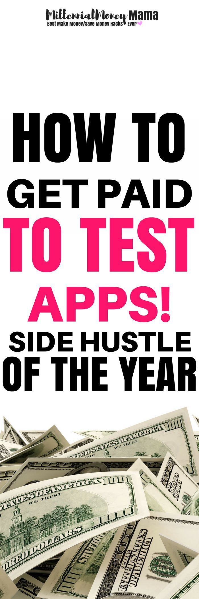 Looking for a side hustle to earn extra  income? You can get paid with apps! Yes, playing around on apps. Check out the full scoop (affiliate) #makemoneyfromhome #makemoneyonline #workfromhome #makemoneyfromhomemom #makemoneyfromhomelegit #extraincome #extraincomeideas #sidehustle #sidehustleideas