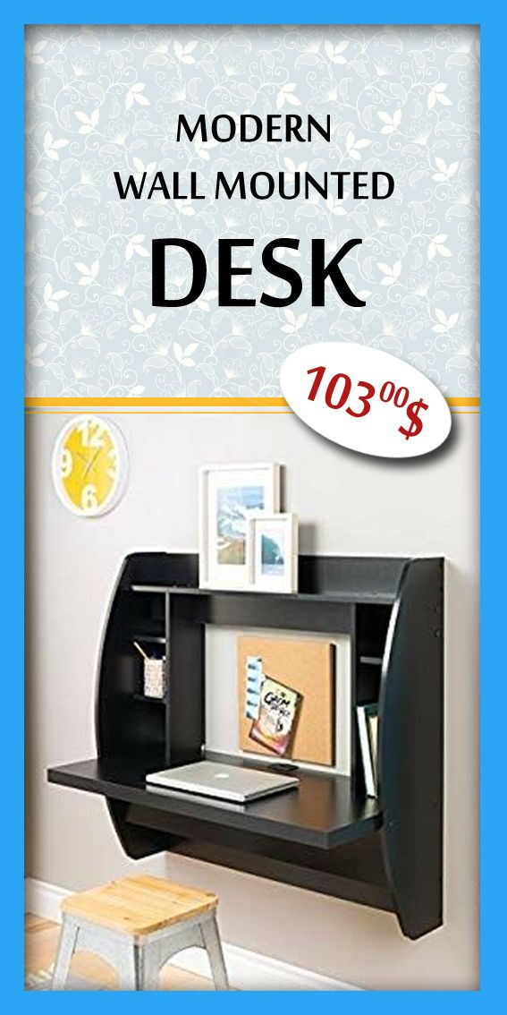 Prepac Wall Mounted Floating Desk With Storage In Black Desk Storage Floating Desk Prepac