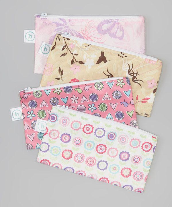 Look at this #zulilyfind! Bumkins Pink Snack Bag Set by Bumkins #zulilyfinds