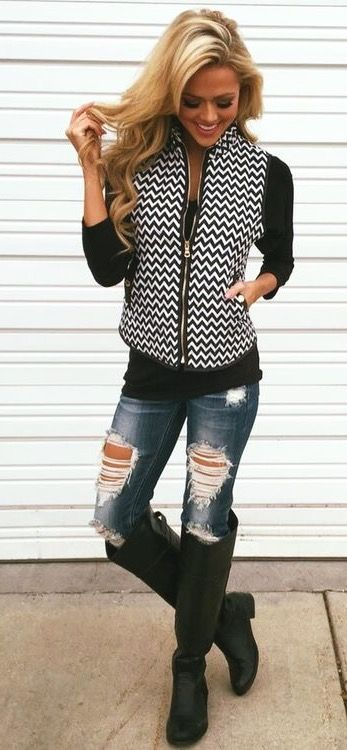 I love casual wear and boots. :). Cute Jean Jacket ...