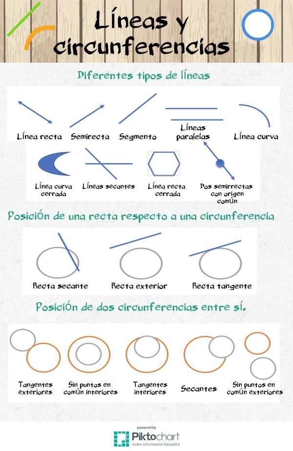 Líneas y circunferencias | @Piktochart Infographic