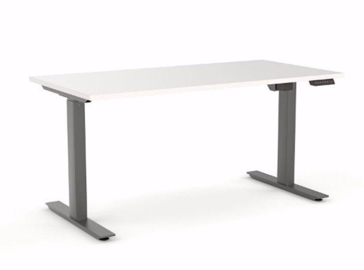 OLG Agile Height Adjustable Electric Desk 2 Column 705-1185mm Black – Dunn Furniture