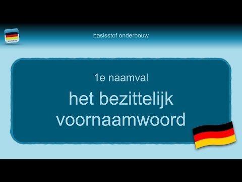 Duits grammatica 8: het bezittelijk voornaamwoord (de ein-groep) - Duits - 1001 Docenten Videos