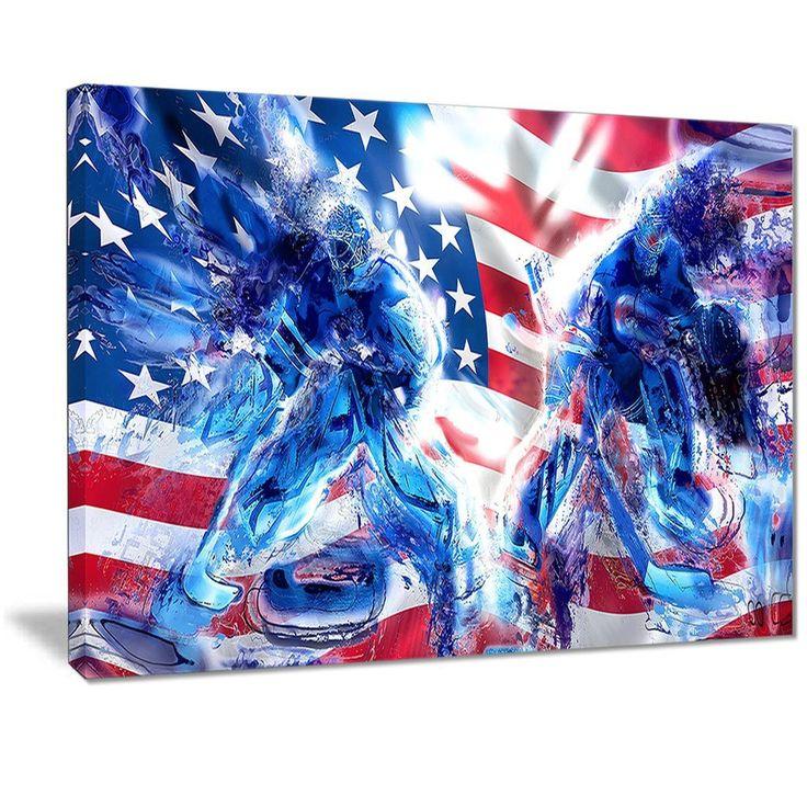 Team USA Hockey Goalie Canvas Print | PT2514